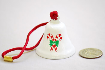 Candy Cane Christmas Bell Ornaments