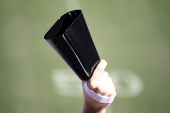 Large Black Football Cowbells
