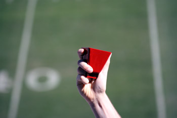 Red Football Cowbells