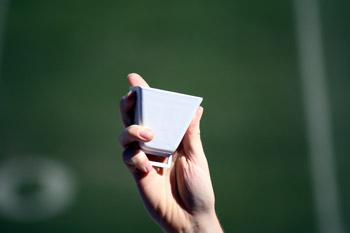 White Football Cowbells