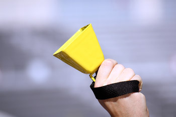Yellow Football Cowbells
